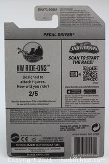 2016 Hot Wheels #67 HW RIDE-ONS 2/5 PEDAL DRIVER Black