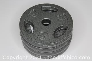 4x 5 lb Pound Standard Grip Barbell Weights Plates CAP RWP NEW Lifting