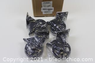 Pack of 4 - Headbourne 8276E 3 inch Polyurethane Mag, 4 Pack Designer Caster, 3-Inch, Gloss Black