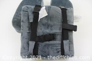 Healthy Spirit Memory Foam Seat Cushion and Lumbar Back Cushion Combo Set   Office Chair Cushion Set, Car Seat, Gray