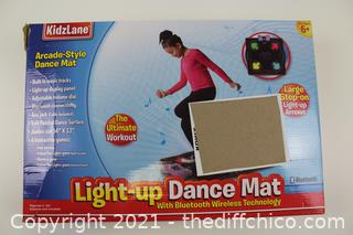 ($59.99) Kidzlane Dance Mat | Light Up Dance Pad with Built in & External AUX/Bluetooth Music | Indoor Dance Game with 4 Game Modes | Gift Toy for Girls & Boys Ages 6+
