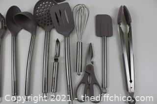 Kitchen Utensil Set,Silicone Cooking Utensils,Stainless Steel Kitchen Utensils Set