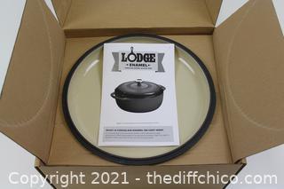 NEW ($80) Lodge Enameled Dutch Oven, 6 Qt, Indigo