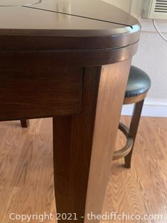 Pub Table with 3 Bar Stools