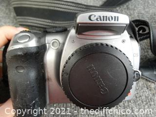 Cannon Camera With Extra Lens