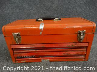 Red Tool Box With Contents