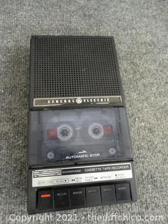 General Electric Tape Player No Cord