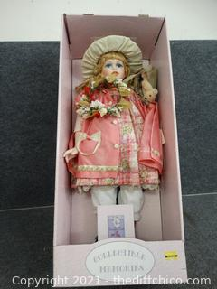 Porcelain Doll With COA