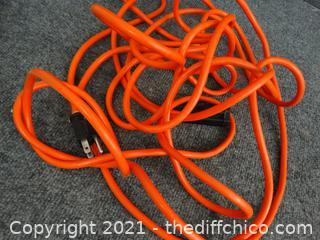 Orange Extension Cord 15 ft