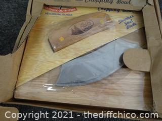 Alaska ULU Knife & Chopping Bowl NIB