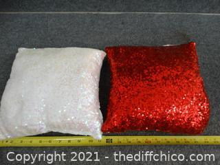 Red & White Pillows