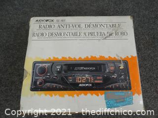 Audio  Detachable Face  security Radio  / av 405