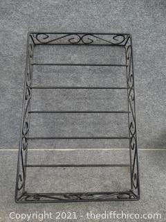 "Black Wire Rack 24"" X16"" X3"""