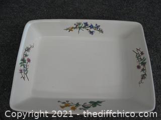 "Wood Hill Casserole Dish 12 1/2"" X 9 1/2"""