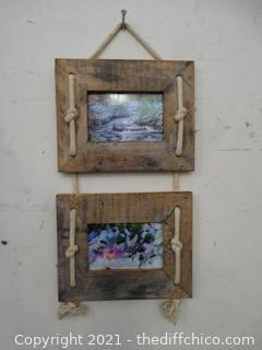 2 Wood Wall Picture Decor