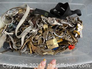Small Tub Of Keys