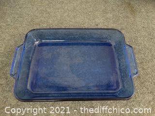"Blue Anchor Glass Pan 9"" x 13"""