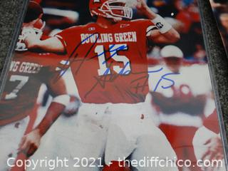 2 Autographed Pictures 1 With COA