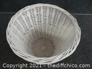 White Waste Basket