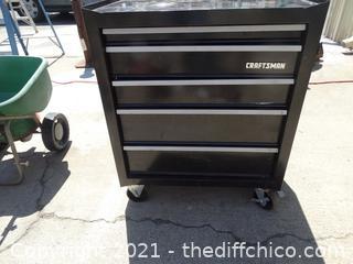 "Black Craftsman Rolling Tool Box 32"" X 26 1/2"" X 18"""
