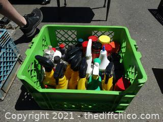 Green Crate Of Chemicals