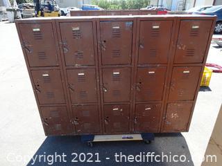 "Vintage School Lockers 45"" x 60"" x 15"""