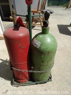 Oxy Act Tanks With Caddy 1/2 Full