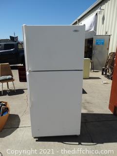 "Working Whirlpool Refrigerator  65 1/2"" x 29 1/2"" x 31"""