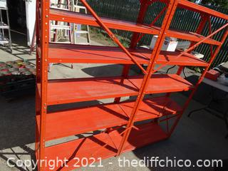 "Orange Metal Rack 50"" x5ft x 11 1/2"""