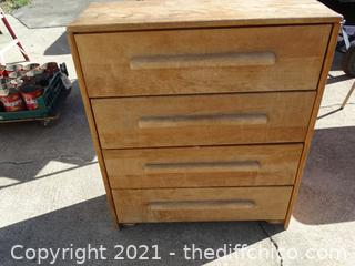 "5 Drawer Dresser 38 1/2""  X32 "" X 12"""