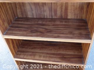 "Wood Book Shelf 68 1/2"" x 30 1/2"" x 12"""
