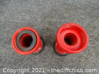 2 Fire Hose Nozzles