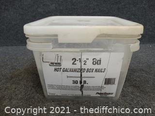 "Hot Galvanized Box Nails  2 1/2"""