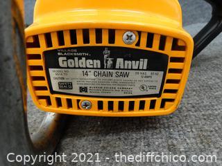 """Golden Anvil 14"""" Chain Saw Wks"""
