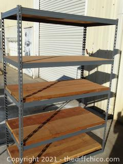 """Metal Shelf  6ft x 22 1/2"""" x 48 1/2"""" with thick wood"""