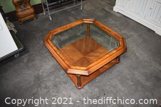 Coffee Table w/glass top
