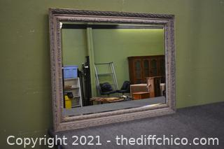 Framed Beveled Mirror