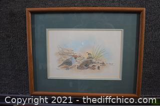 Framed Signed Lithograph 164/300