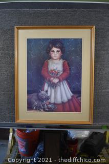 Framed Signed Lithograph  274/1500