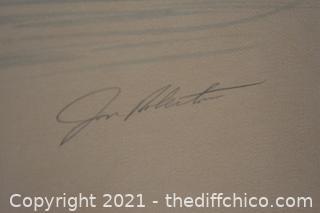 Framed Lithograph 'Sea Otters' 148/295 COA