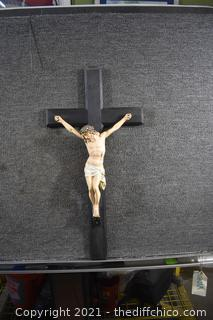 Wall Hanging Crucifix -  14 1/2in x 29in
