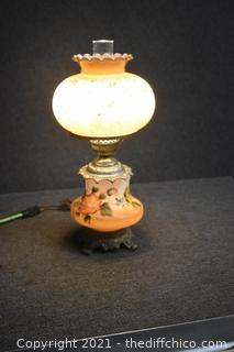 Vintage Working Gone with the Wind Lamp