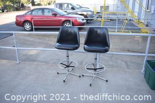 2 Swivel Bar Chairs