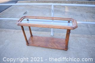 Sofa Table w/glass top