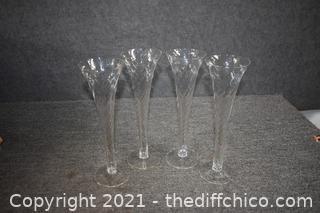 4 Flute Glasses