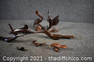 8 Iron Wood Figures