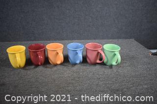 6 Hand Painted Gibson Coffee Mugs