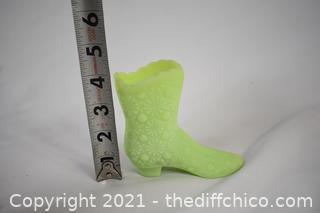 Fenton Collectible Glass Boot