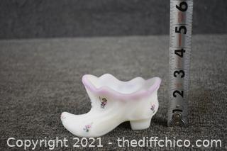Fenton Collectible Shoe w/label