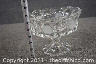 Coin Glass Pedestal Dish